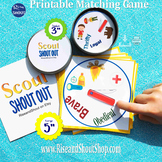 """Scouts Matching Game SHOUT OUT, Spot the Match, 3"""" & 5"""" ci"""