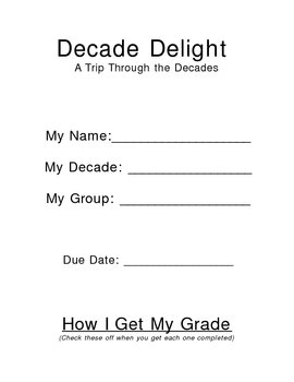 Decade Delight - A Research Project for the Decades