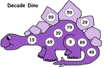 Decade Dino - Counting and Crossing Decades 0-100