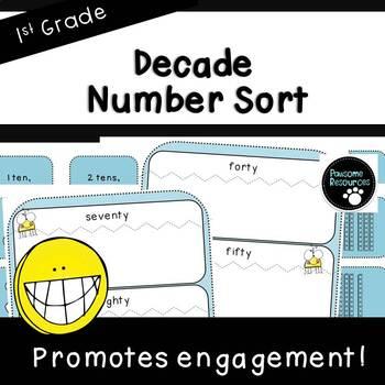 Decade Number Sort (First Grade, 1.NBT.2)