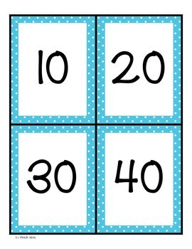Decade Numbers Memory Game