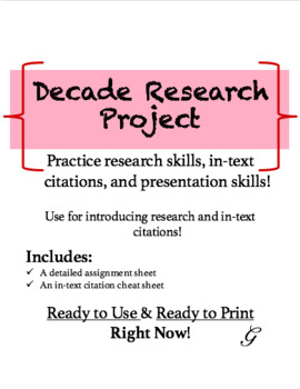 Decade Research Project