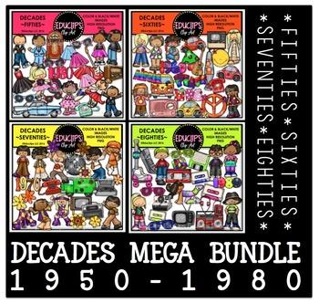 Decades (1950-1980) Clip Art Bundle