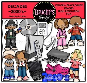 Decades-2000's Clip Art Bundle {Educlips Clipart}