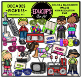 Decades - Eighties Clip Art Bundle {Educlips Clipart}