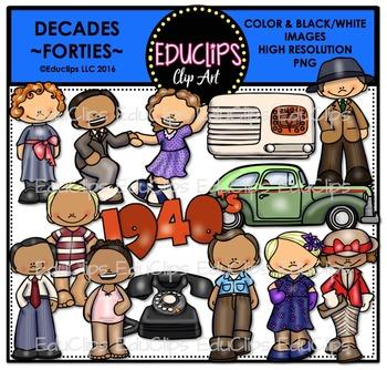 Decades-Forties Clip Art Bundle