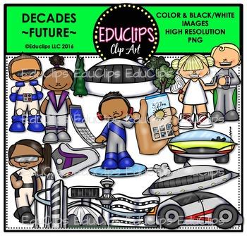 Decades-Future Clip Art Bundle {Educlips Clipart}
