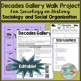 Decades Gallery Walk Project for History and Sociology
