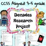 Decades Research No Prep Project {Paper or Digital} - Grea