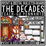 End of Year Project - Decades Research Poster Templates  • Teach- Go Pennants™