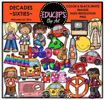 Decades - Sixties Clip Art Bundle