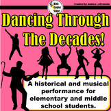 Decades themed script for single class or large group musical performance