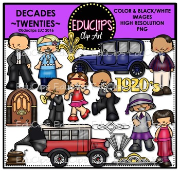 Decades-Twenties Clip Art Bundle {Educlips Clipart}