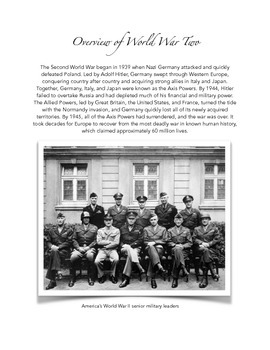 Decades of Memories Sample: A 1940s Oral History Project