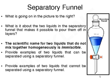 Decantation, Filtration, Separatory Funnels, and Chromatography