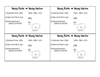 Decay Rate to Decay Factor Notecard