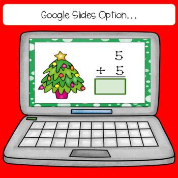 December 1 Digit Addition Task Cards
