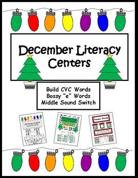 December 1st Grade/Kindergarten Literacy Centers- Christmas/Holiday Word Work