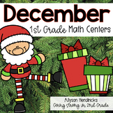 December 1st Grade Math Centers with Task Cards