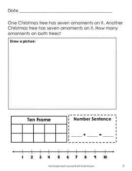 December 1st Math Journal