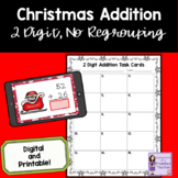 Christmas 2 Digit, No Regrouping Addition Task Cards