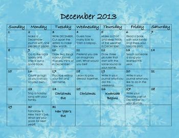 December 2013 Homework Calendar