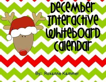 December 2016 Interactive Whiteboard Calendar