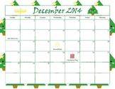 December 2014 Calendar - Month View