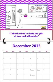 December 2015 ( A 1-Month Inspirational Calendar for Teachers)