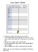 December 2016 Sign In Sheets - Editable