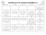 December 2017 Random Acts of Kindness Calendar