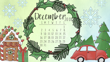 December 2018 Christmas Calendar Wallpaper Freebie By Taracotta Sunrise