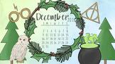 December 2018 HP Winter Calendar Computer Wallpaper FREE