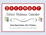 December 2018 School-Based Kindness Calendar