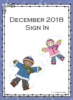 December 2018 Sign In Sheets