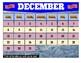 December 2019 Interactive Calendar/Lesson Planner-For any Class (Google Slides)