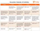 December 2020 Activity Calendar
