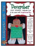 December 2020 Calendar Grid