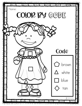 Color by Code December
