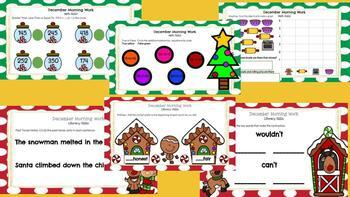 December 2nd Grade Morning Work for Google Classroom