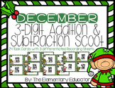December 3 Digit Addition and Subtraction with Regrouping Scoot