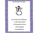 December 3D Snowman Writings