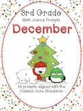 December 3rd Grade Common Core Math Journal Prompts