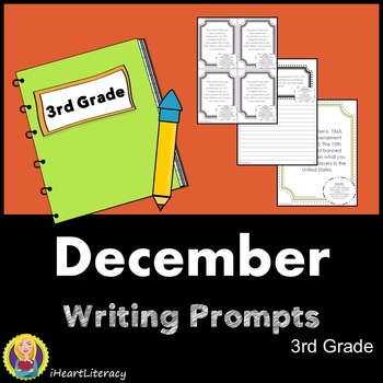 Writing Prompts December 3rd Grade Common Core