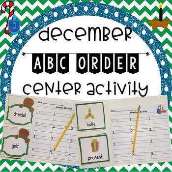 December ABC Order Center