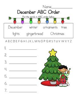 December ABC Order Fun