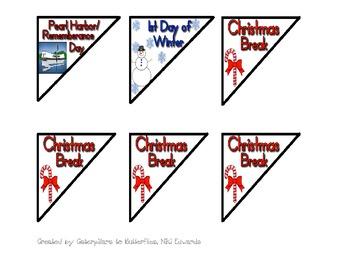 December ABCD-  PATTERN Calendar