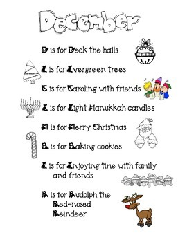 December Acrostic Poem