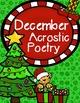 December Acrostic Poetry