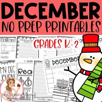 December Winter Holiday NO PREP Activities Packet K-2nd Grades
